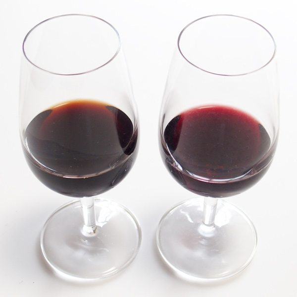 red wine aging